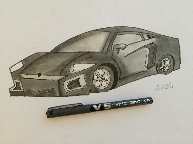 My Lamborghini Car Drawing Onlee Chu